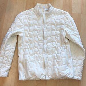 White puff jacket women's size Large